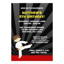 karate birthday invitations u0026 announcements zazzle