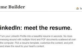 Linkedin Resume Template Resume Builder Linkedin Create Resume From Linkedin 19 Appealing