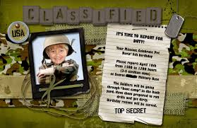kids military birthday invitation u2013 orderecigsjuice info