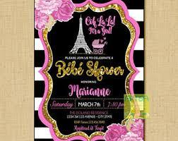 parisian baby shower baby shower etsy