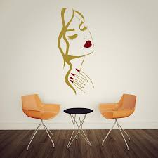 wall decal beauty salon manicure nail salon hand face vinyl