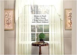 Swag Curtains For Living Room Country Swag Curtains Lined Scalloped Valance Linen Source A