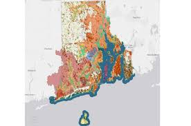 map rhode island map of rhode island s geology and resources