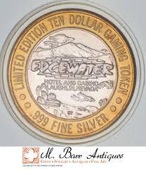 rare silver 45 2 grams edgewater hotel u0026 casino round 999 fine