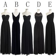 black bridesmaid dresses black cheap simple mismatched styles chiffon floor length formal