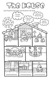 house worksheets the house song and worksheet house lesson