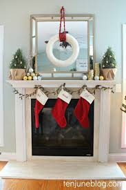 home decoration white fireplace christmas decoration white pine