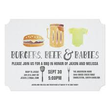 couples baby shower burgers and babies s baby shower invitation ladyprints