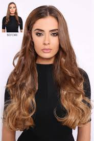 ombre clip in hair extensions thick wavy ombre hair extensions lullabellz
