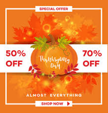 thanksgiving day sale banner template royalty free vector