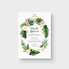 aloha summer ii invitation card the paperpapers wedding