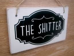 the shitter funny toilet sign secret santa gift toilet