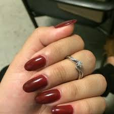 29 oval acrylic nails designs with red picsrelevant