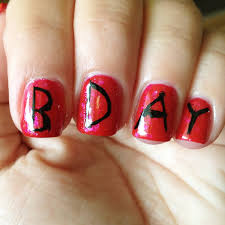 30 most adorable birthday nail art designs