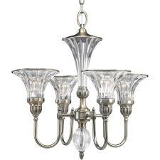 Progressive Lighting Chandeliers Progress Lighting Roxbury Collection 4 Light Classic Silver