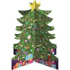 3d tree advent calendar paper tiger