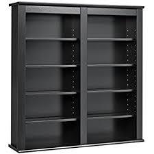 Black Dvd Cabinet Amazon Com Prepac Black Medium Capacity Hanging Wall Media Dvd