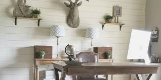 Interior Shiplap Remodelaholic How To Install A Shiplap Wall Rustic Home Office