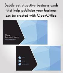 Openoffice Business Card Template 10 Openoffice Business Card Templates To Download For Free