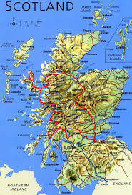 map of scotland and physical map of scotland mapsof