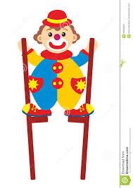 clown stilts clown on stilts stock photo image 33348220