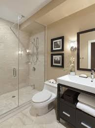beige tile bathroom ideas sleek dark gray wall painted light blue