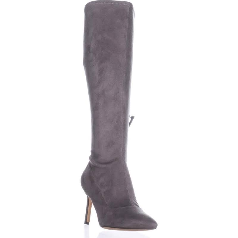 Nine West Carrara Faux Suede Dress Boots Gray 9.5 Medium (B,M)