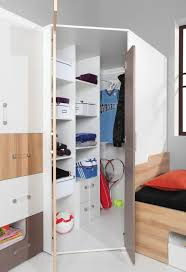 armoire d angle chambre chambre d adolescent armoire d angle lian 01 brun