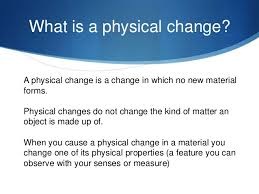 what is chagne made of physical changes