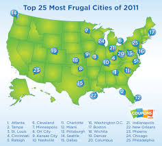 Cities In Ohio Map by Digital Coupons Help Atlanta Become Most Frugal City In U S