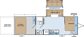 R Pod Floor Plans Xlr Hyperlite Travel Trailer Toy Haulers Floorplans By Forest