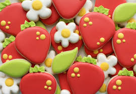 decorated cookies decorated strawberry cookies the sweet adventures of sugar