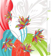 vector flower design for greeting card stock photography image