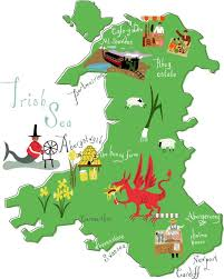 where is wales on the map best 25 map of wales ideas on wales map and