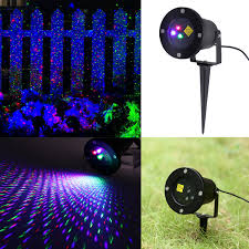 Christmas Projector Light by Floureon Rgb Led Dynamic Garden Starry Laser Lawn Light Christmas