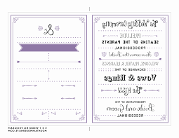 modern wedding programs awesome modern wedding program template photos styles ideas