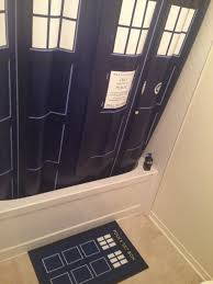 Doctor Who Shower Curtain The Doctor Drawing Himself In Color Rebrn Com
