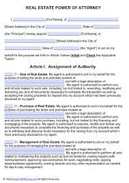 Durable Power Of Attorney South Carolina by Real Estate Power Of Attorney Form Pdf Templates Power Of