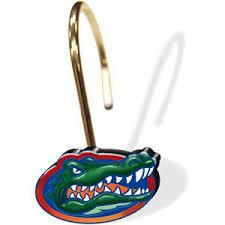 florida gator head shower curtain rings gator shop