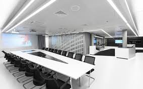 ultra modern meeting room design with unique decoration