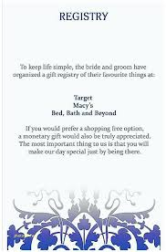 baby gift registry target baby gift registry cards shower invitation new wording
