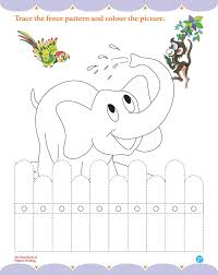 trace the fence pattern and colour the picutre download free