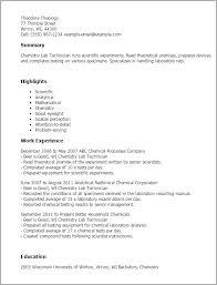 sample resume lab technician 11 laboratory technician resume