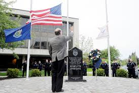 Fallen Officer Flag Photos Fallen Officers Memorial In Auburn Lewiston Sun Journal
