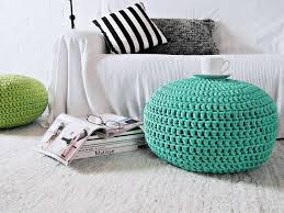 Giant Floor Pillows For Kids by Aqua Large Floor Pouf Ottoman Tiffany Footstool Crochet