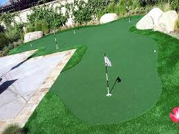 Backyard Milton - synthetic lawn milton wisconsin golf green backyard landscape ideas
