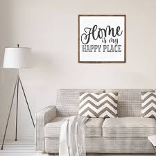 home is my happy place wood sign home decor wood signs