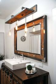 Wood Vanity Table Vanities Rustic Industrial Light Steel And Barn Wood Vanity