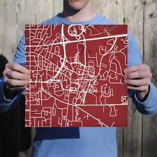 Mississippi State Campus Map Mississippi State University Campus Map Art City Prints