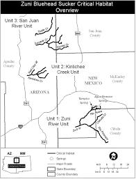 Arizona New Mexico Map Endangered Species Status Habitat Proposed For Fish In Arizona